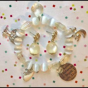 Jewelry - I Believe in Angels Bracelet, Earrings!